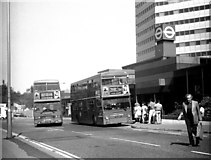 TQ3266 : Buses at West Croydon bus station by Dr Neil Clifton
