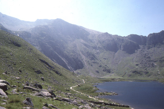 Looking up Cwm Idwal