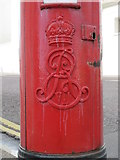 TQ3303 : Edward VII postbox, Eastern Road / Sussex Square, BN2 - royal cipher by Mike Quinn