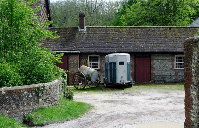 Horsebox and cart, Saddlescombe, West Sussex