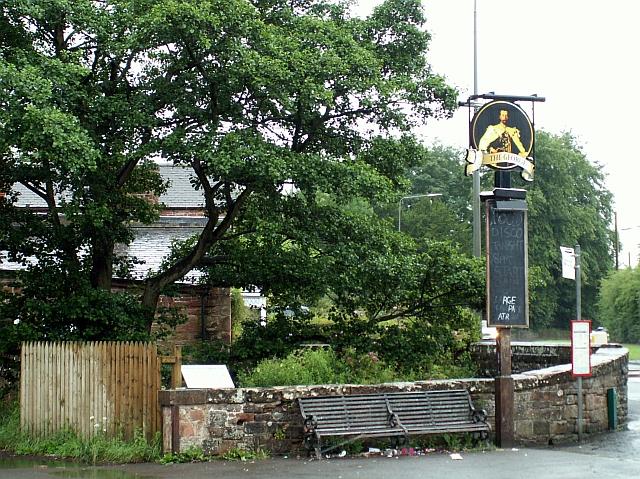 George pub sign, Warwick Bridge 2007
