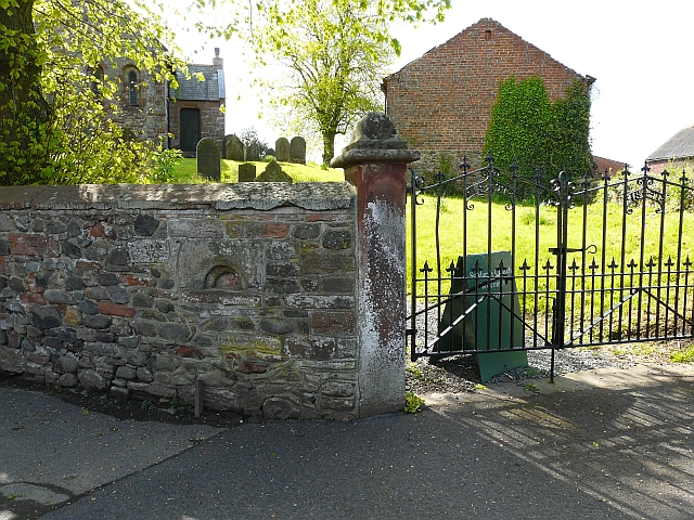 Churchyard wall and gate