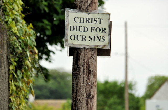 Religious messsage, Hillhall, Lisburn