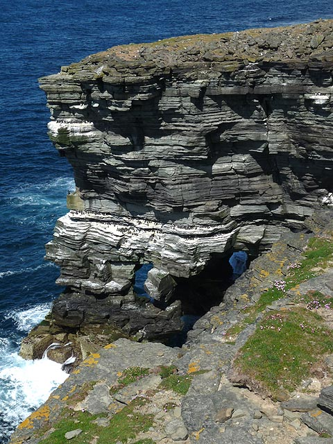 Natural arch, Rousay, Orkney