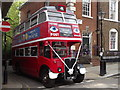 TQ2979 : Vintage Red Bus by Colin Smith