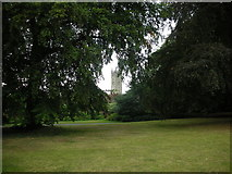 SP2865 : Priory Park with St Mary's Tower in the background by AJD
