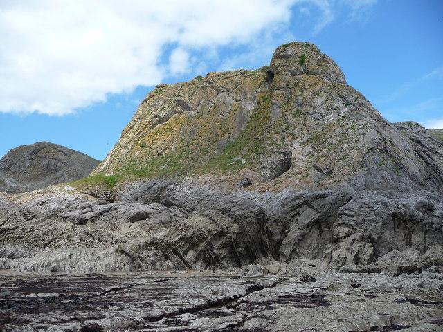 Gower coastline at Paviland Cave