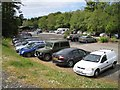 NG2548 : Busy day for the car park by Richard Dorrell