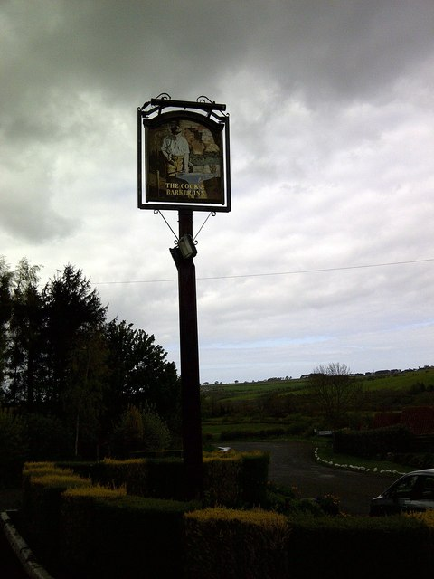 Pub Sign just before the Hailstorm
