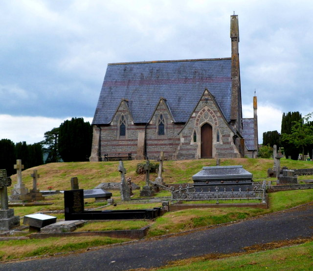 Southeast side of Grade II listed Brecon Cemetery Chapel (SE)