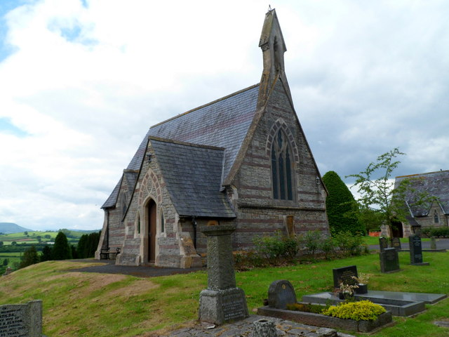 Grade II listed Brecon Cemetery Chapel (SE) viewed from the east