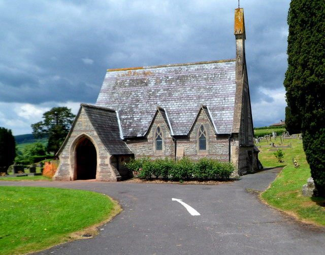 Grade II listed Brecon Cemetery Chapel (NW)