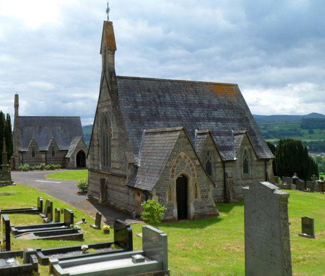 Two Grade II listed chapels, Brecon Cemetery
