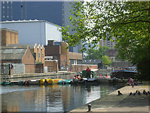 TQ3283 : City Road Basin by Stephen McKay