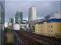 TQ3780 : Canary Wharf from Westferry DLR station by David Martin