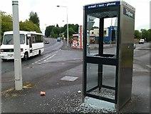 H4573 : Vandalised kiosk, Gortin Road, Omagh by Kenneth  Allen