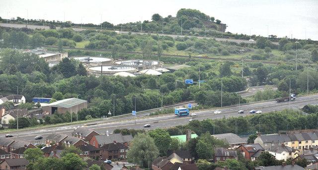 The M2 hill section, near Greencastle, Newtownabbey