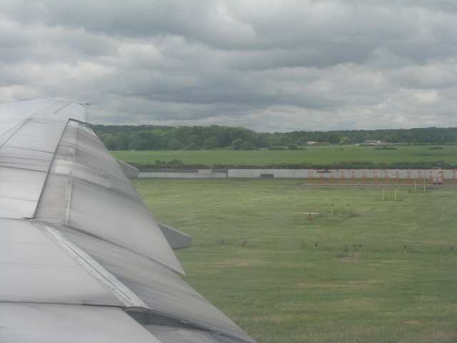 Runway threshold at Gatwick