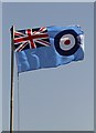 NY4861 : The RAF Flag at the Solway Aviation Museum by Walter Baxter