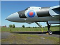 NY4861 : The nose of the Avro Vulcan Bomber at the Solway Aviation Museum by Walter Baxter