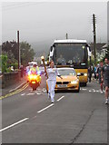 J3731 : Olympic Torch Relay runner in Shimna Road, Newcastle by Eric Jones
