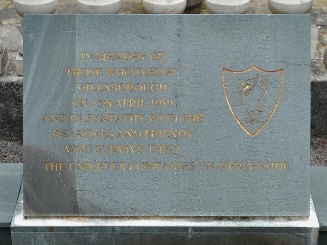 Hillsborough Memorial, Port Sunlight