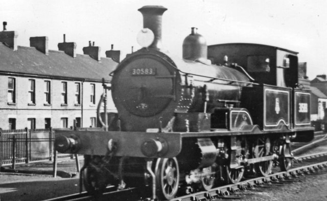 Ex-LSWR Adams '0415' class 4-4-2T on Rail Tour at Exmouth