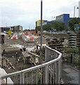 SJ9399 : Tram Terminus under construction by Gerald England