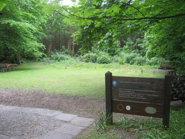 Woodland Garden at the Parish Church of St Luke's in Formby