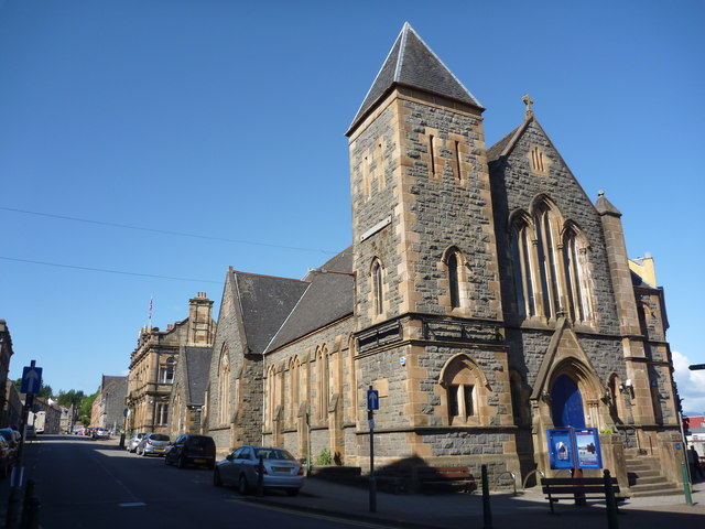 Oban Townscape : St Columba's Church and Hall (formerly United Free Church)