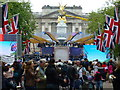 TQ2979 : Stage for The Diamond Jubilee Concert by Richard Humphrey