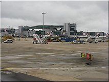 TQ2741 : Passing stands 145L, 145 and 145R at London Gatwick Airport by M J Richardson