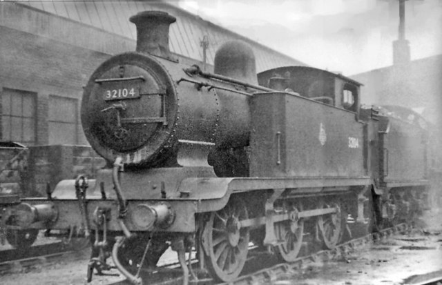 Ex-LB&SCR E2 class 0-6-0T at Stewarts Lane Locomotive Depot