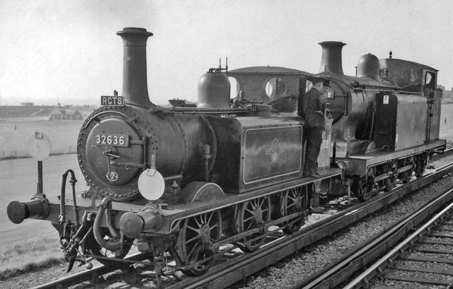 The two ex-LB&SCR tank engines on the RCTS Sussex Rail Tour at Seaford