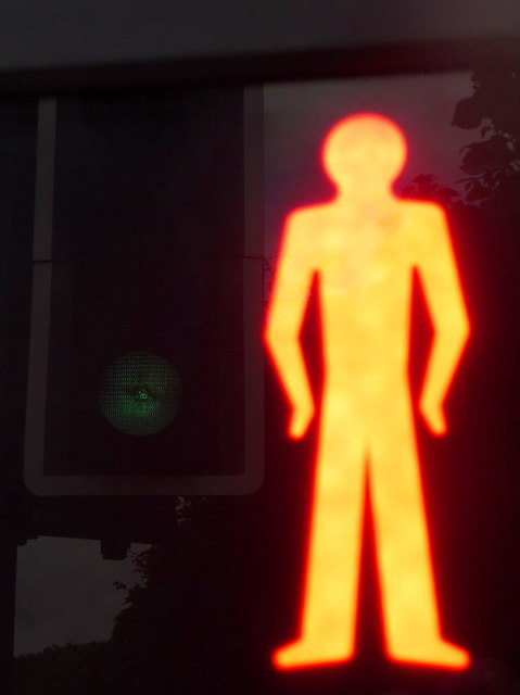 Stanmore: red man and green light
