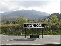 SH5752 : Platform at Rhyd Ddu by Peter S