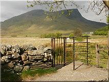 SH5752 : Y Garn and Mynydd Drws-y-Coed from Rhyd Ddu by Peter S