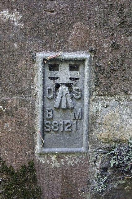 Close up of Sorbie Church Benchmark