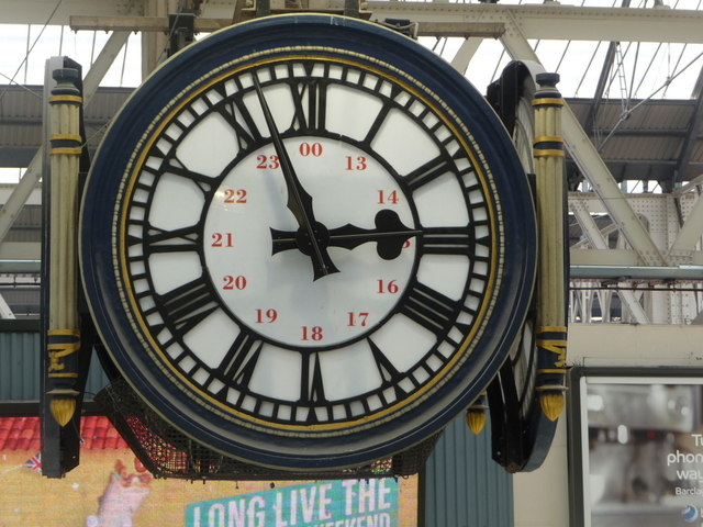 Waterloo: the famous station clock viewed from the same level