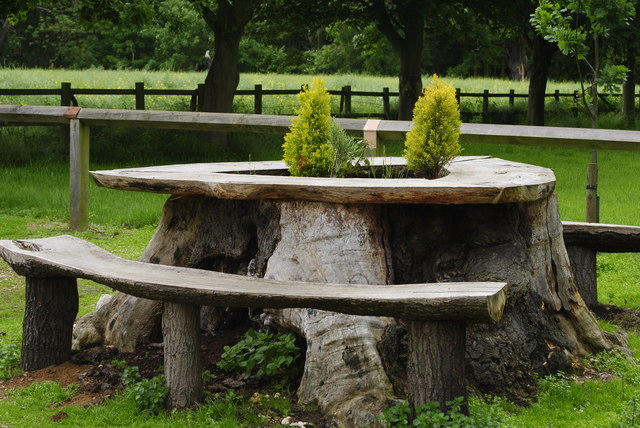 Natural table and chairs