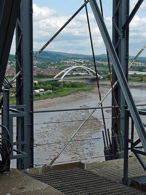 Newport City Bridge viewed from the Transporter Bridge