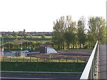 SD6211 : View over the M61's Rivington Services to Blackrod, near Bolton by Terry Robinson