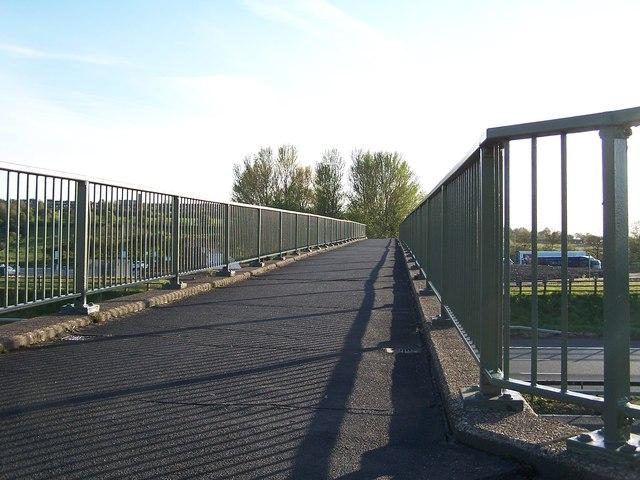 Bridge over the M61 at Rivington Services, near Bolton - 1