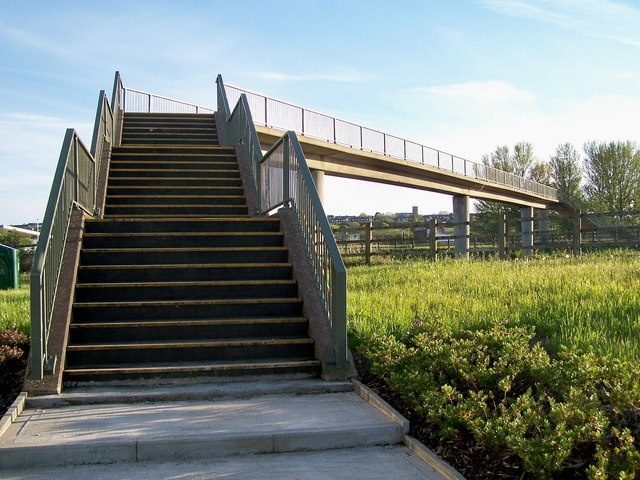 Bridge over the M61 at Rivington Services, Near Bolton - 2