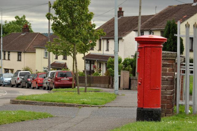 Pillar box, Rathcoole, Newtownabbey