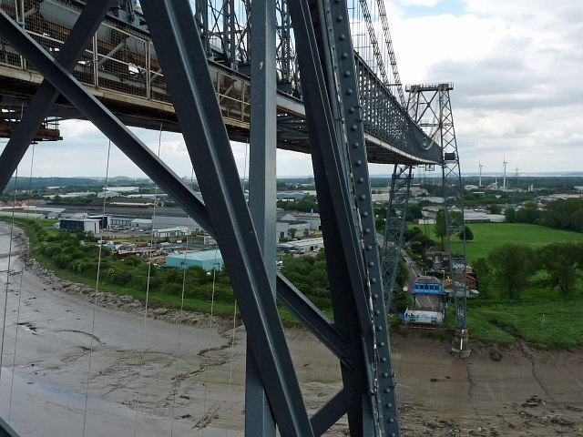 Looking along the boom towards the eastern end of Newport Transporter Bridge by Robin Drayton