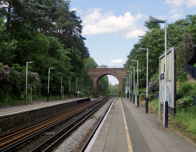 Oxshott station: view from the down platform