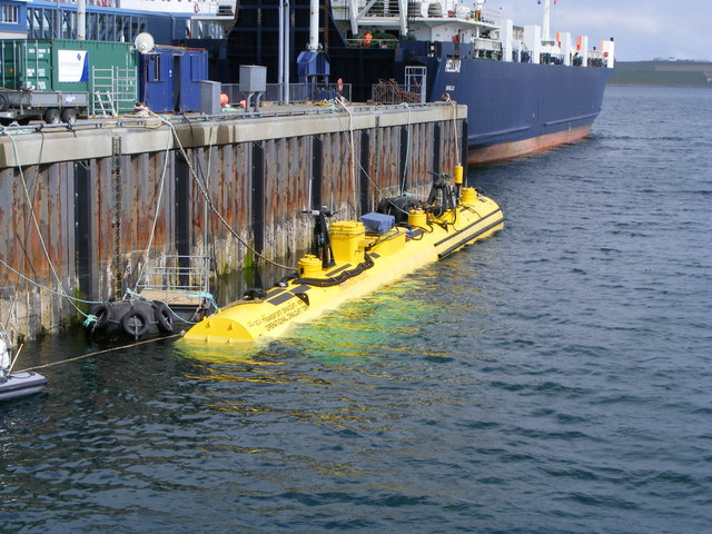 SR250 Tidal Turbine moored at Hatston Pier