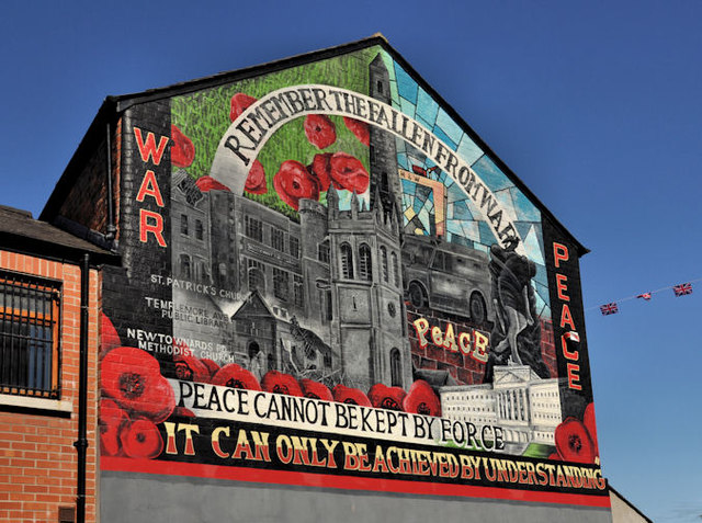"""War and Peace"" mural, Ballymacarrett, Belfast"