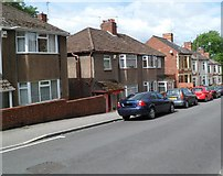 ST3288 : Housing variety, St John's Road, Newport by Jaggery